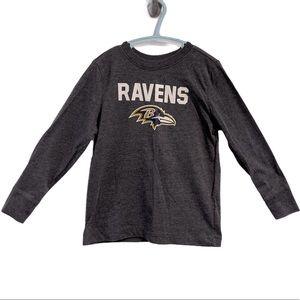 NFL Baltimore Ravens gray long sleeve shirt 5T